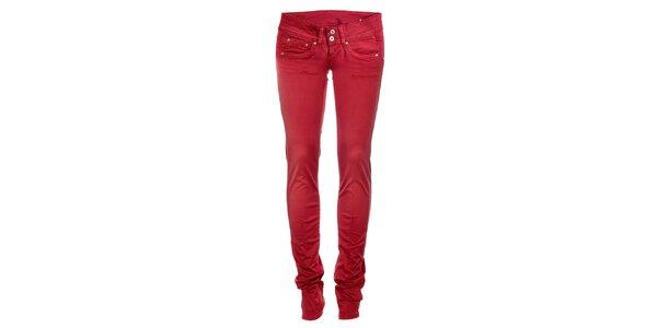 Dámské červené skinny džíny Pepe Jeans