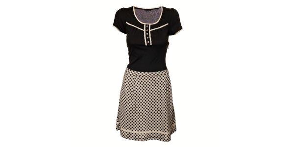 Dámské černobílé retro šaty Vive Maria