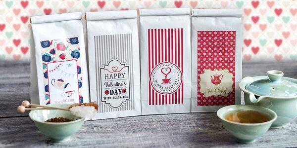 Prvotřídní sypané čaje ve valentýnském balení