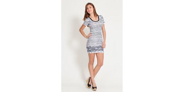 Dámské modro-bílé pruhované šaty Lois