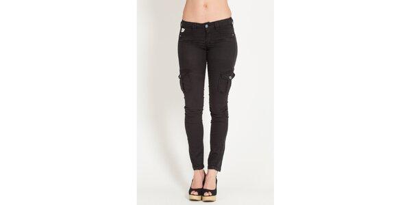 Dámské černé kalhoty Lois s kapsami