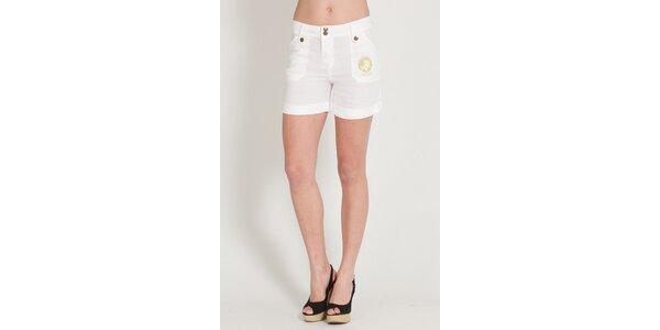 Dámské bílé lněné šortky Lois