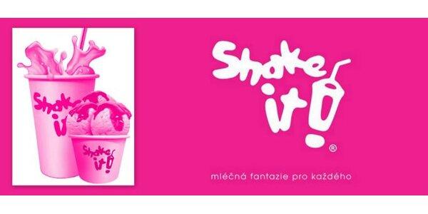 49 Kč za DVĚ úžasné Shake it! zmrzliny dle vlastní chuti.