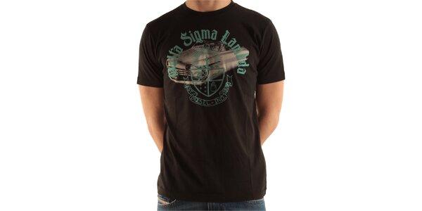 Pánské černé tričko s potiskem Diesel