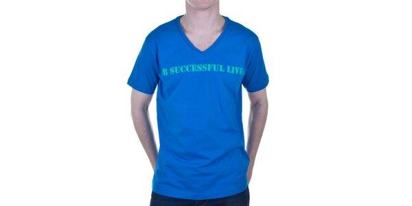 Pánské modré tričko s nápisem Diesel