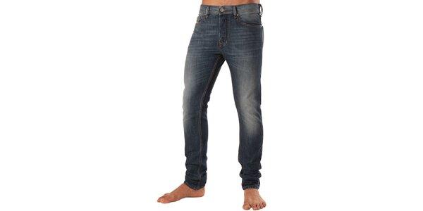 Pánské modré džíny s šisováním Diesel