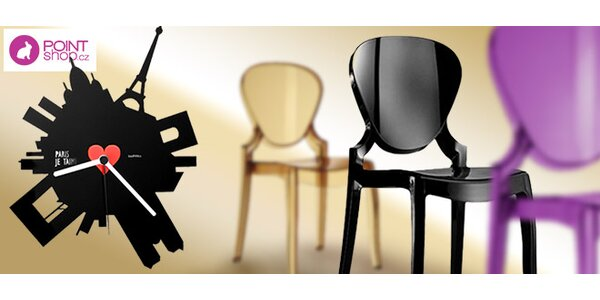Luxusní designové židle nebo hodiny Paříž