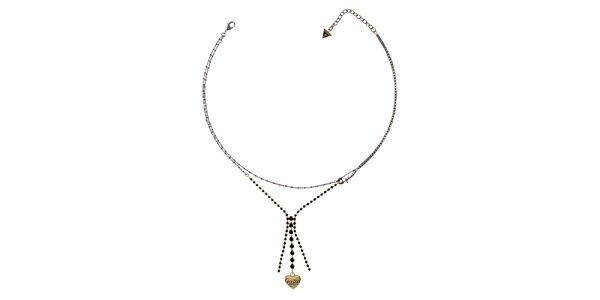Dámský jemný náhrdelník se zlatým srdíčkem Guess