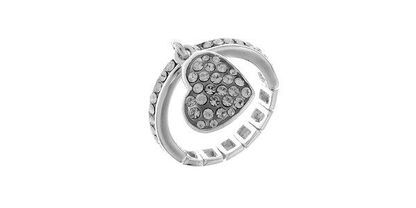 Dámský stříbrný prstýnek s kamínky Guess