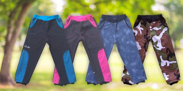 Kvalitní dětské softshellové kalhoty značky GUDO