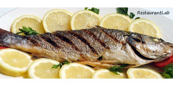 Rybí hostina pro dva dle výběru