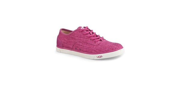 Dámské růžové plátěné tenisky Ugg