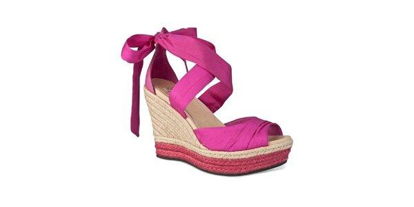 Dámské sorbetově růžové zavazovací sandálky Ugg