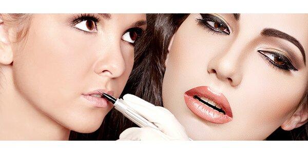 Permanentní make-up obočí, rtů či očních linek