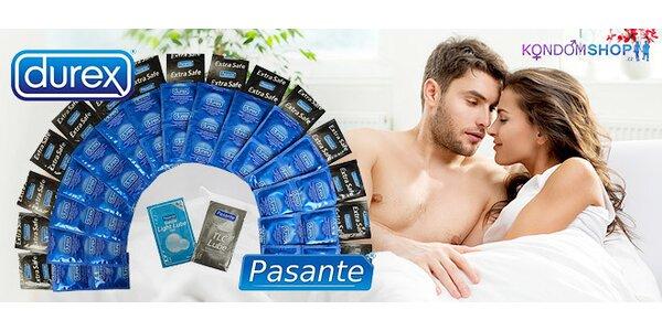 Letní balíčky kondomů Durex a Pasante