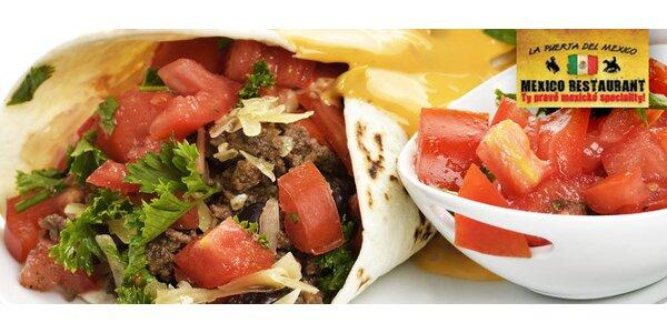 Mexické Burritos a dezerty pro dva