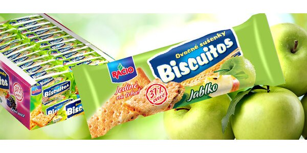 Maxi balení Racio jablečných sušenek Biscuitos