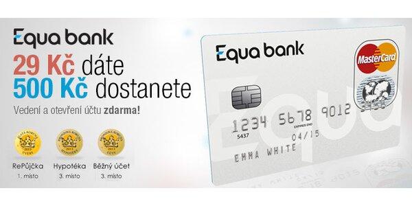 Získejte 500 Kč s Equa Bank
