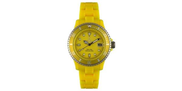 Žluté sportovní hodinky Toy s plastovým řemínkem