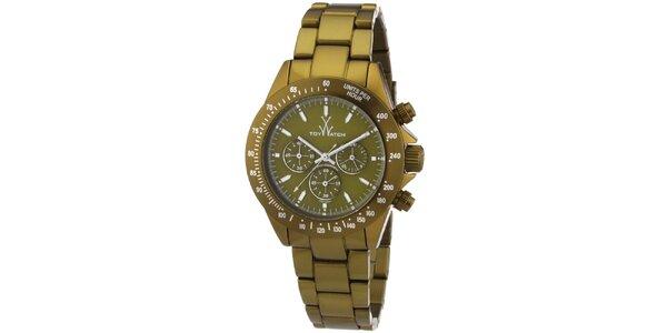 Pánské zelené analogové hodinky Toy