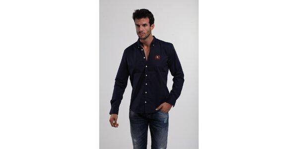 Pánská tmavě modrá bavlněná košile Giorgio di Mare