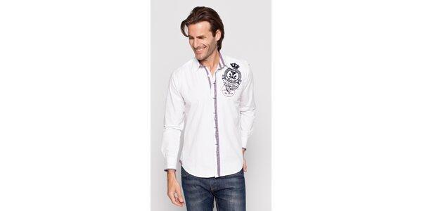 Pánská bílá bavlněná košile Giorgio di Mare