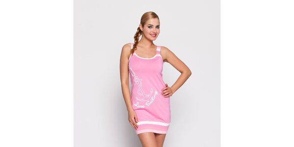 Dámské růžové šaty Giorgio di Mare s potiskem