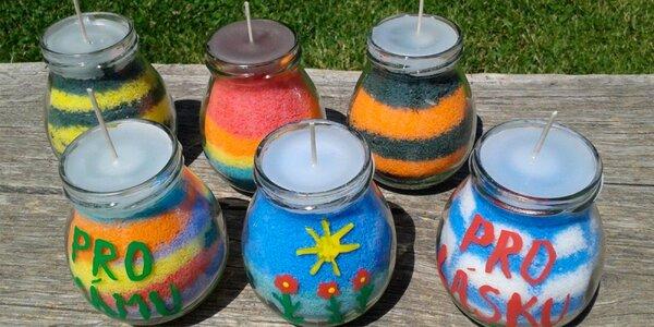 Výroba svíček s éterickým olejem