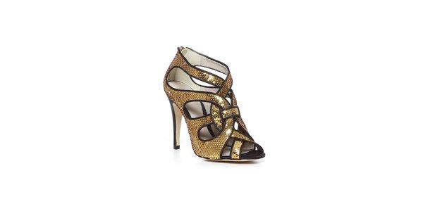 Luxusní boty Bourne ve zlatém provedení