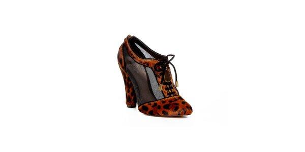 Boty z dílny Bourne s leopardím vzorem