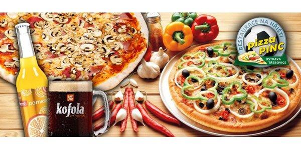 129 Kč za DVĚ pizzy dle vlastního přání a DVA nealko nápoje v Ostravě