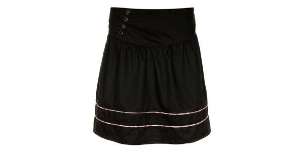 Dámská černá sukně Loap s barevnými proužky