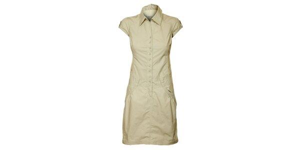 Dámské krémové propínací šaty Loap