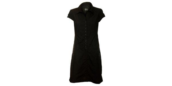 Dámské černé propínací šaty Loap