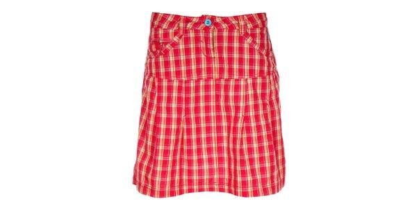 Dámská červená kostkovaná sukně Loap