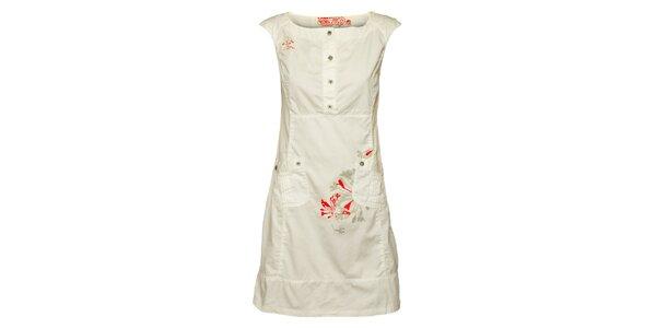 Dámské bílé šaty Loap s potiskem