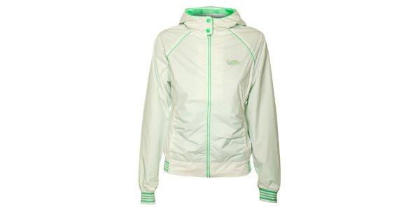Dámská bílá sportovní bunda Loap se zelenými detaily