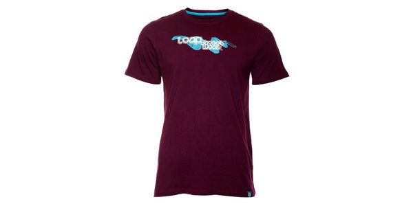 Pánské tmavě fialové tričko Loap s potiskem