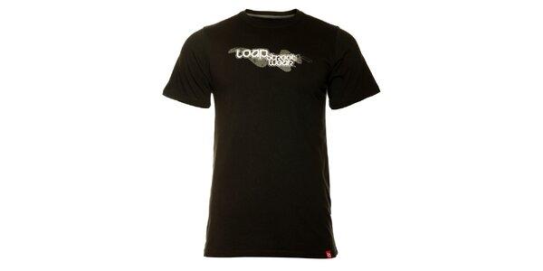 Pánské černé tričko Loap s potiskem