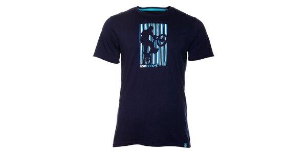 Pánské tmavě modré tričko Loap s potiskem