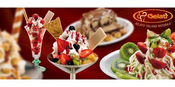 Dva zmrzlinové poháry Gelati pro dospělé i děti