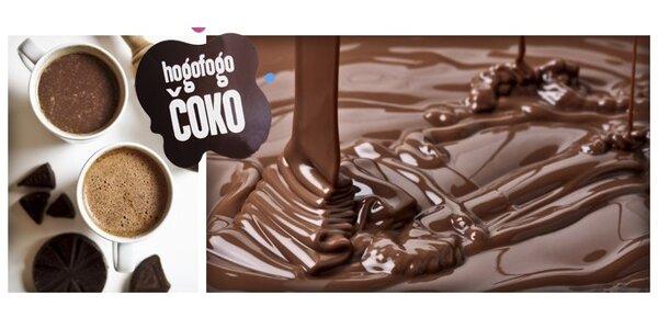 48 Kč za DVĚ lahodné horké čokolády mnoha příchutí v Hogofogo čoko!