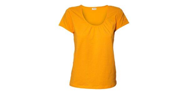 Dámské meruňkové tričko Northland s řasením