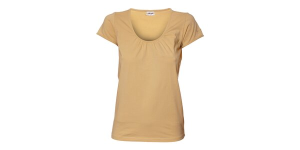 Dámské béžové tričko Northland s řasením