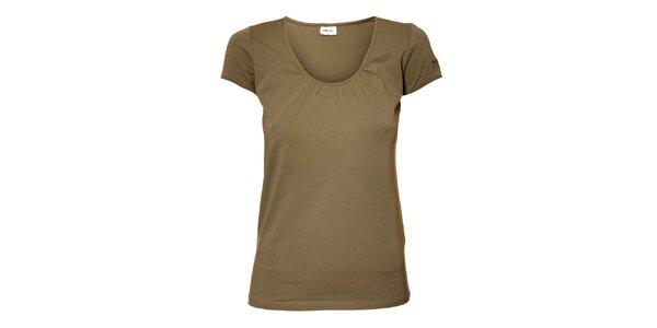 Dámské tmavě zelené tričko Northland s řasením