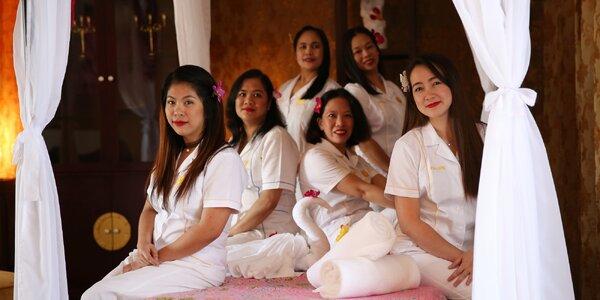 120 min. relaxace pro pár: thajská masáž a lázeň