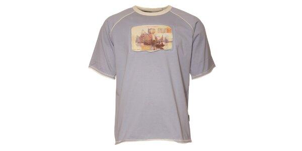 Pánské světle modré tričko Northland s pohlednicí z Benátek