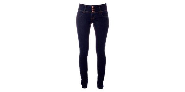 5c309215bfe Dámské tmavě modré elastické džíny Only