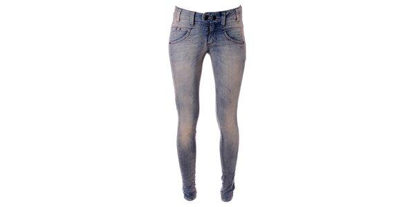 Dámské světle modré skinny džíny Object
