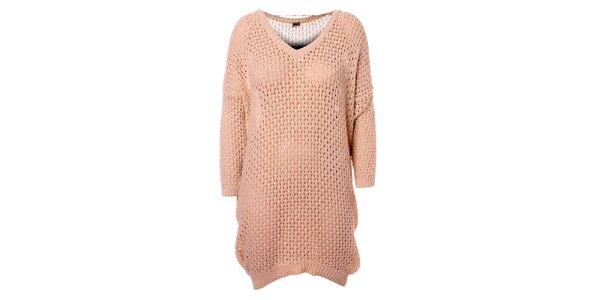 Dámské béžové pletené šaty Object